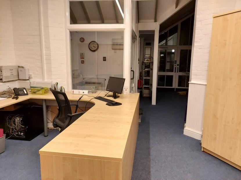 The admin office and entrance