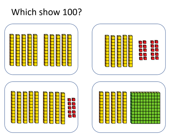 Quick question, can you prove which one is the same as 100?