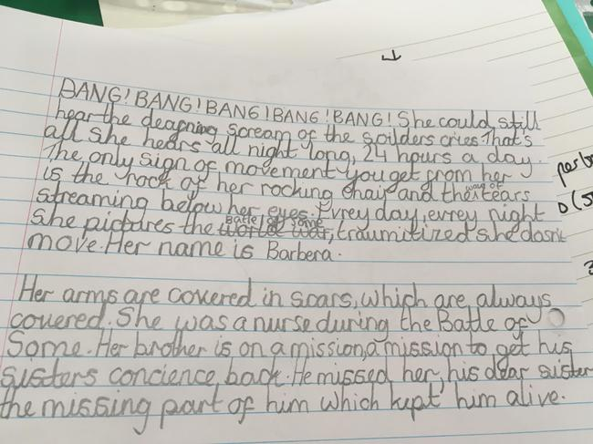 Hanifa in 6B received special praise for her work!