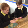 then carefully fill the empty banana with sawdust