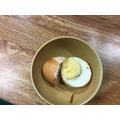 Egg in orange juice