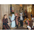 Our younger pupils set the Nativity scene