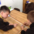 Carefully measuring the distance travelled.