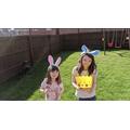 Amelia and Georgia's Easter egg hunt!