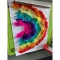 Max made a rainbow