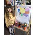 Poppy coloured a flower