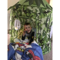 Darwin and his army tent!