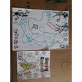 Rocco coloured an Easter card