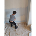 Dylan painting his baby sister's room