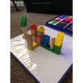 Alyssia has been busy building with blocks