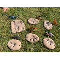 Max made his own dinosaur fossils. Well done!