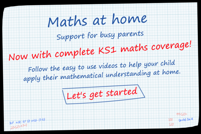 A link to the Maths at Home resource