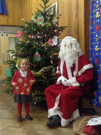 Santa came to School!