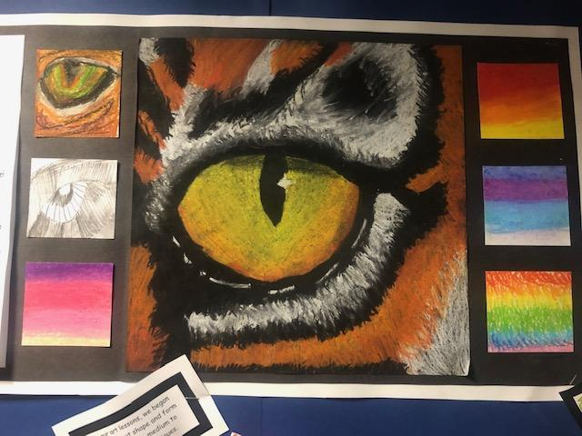 Pastel Eye in Year 5 showing progression of skills