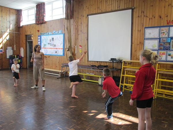 Learning a french dance.