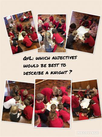 We worked with Class 1 to describe a good knight