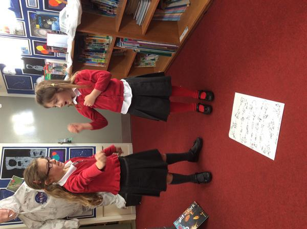 We used actions to learn a story