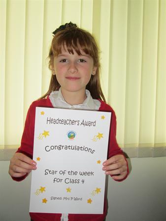 Star of The Week for 9th September 2013