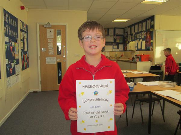 Star of the Week 24th March- Will!