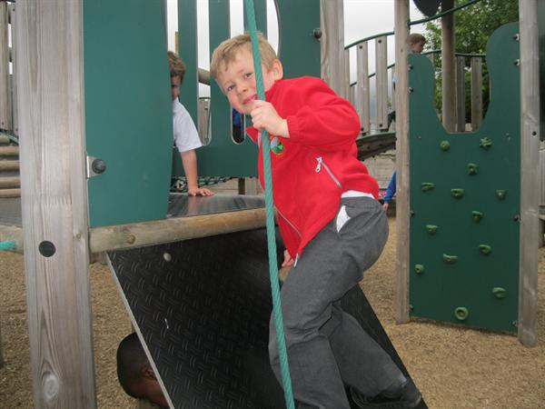 Rope climbing!