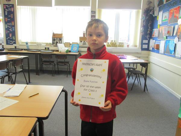 Star of the Week 17th March-Blake!