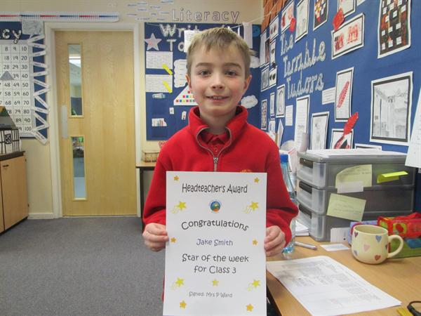 Star of the Week 10th March- Jake!