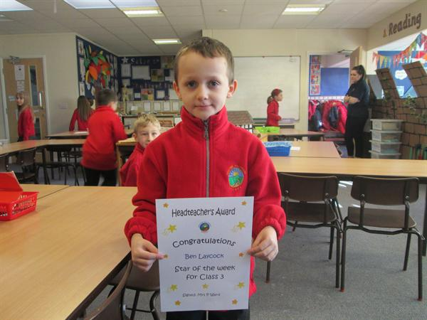Star of the Week 3rd March- Ben!