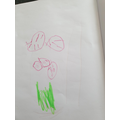 Lillies drawing of what she saw at the pit.