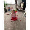 Izabella doing yoga
