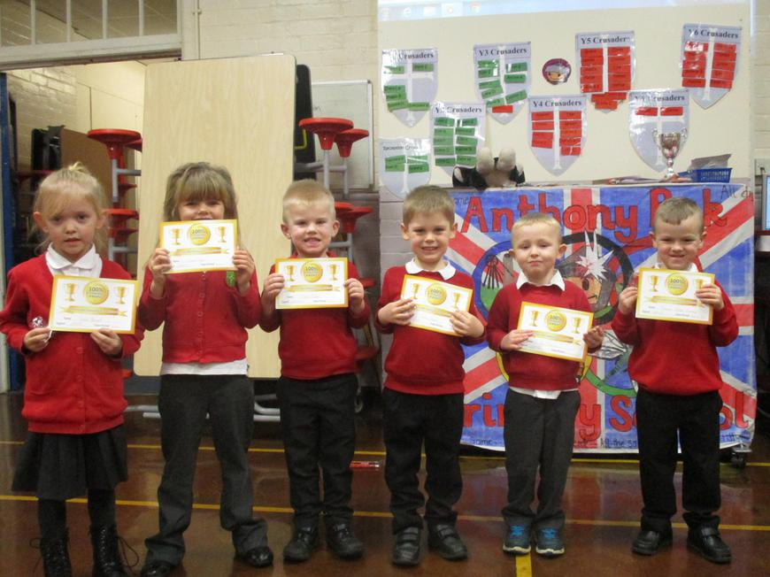 100% Reception pupils
