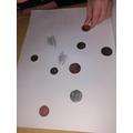 Romans coin rubbings