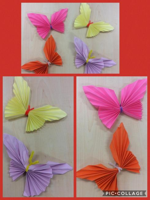 Craft paper butterflies turned out lovely.