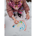 Ravans Snow Rainbow Painting.