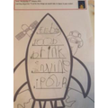 Clara's List of things to take to the moon.