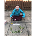 Aimee's garden art