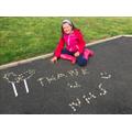 Grace's outdoor art 👍