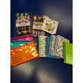 Pencils, cases, rubbers 10pts  Notebooks 30points