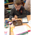 Mason completing an interesting experiment