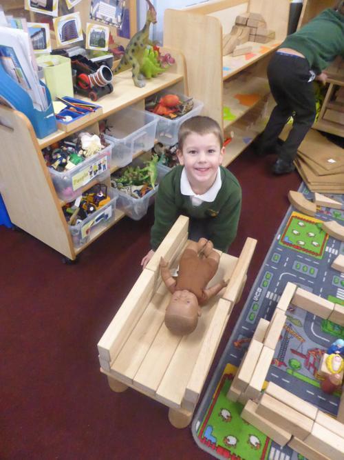 Building a manger for Baby Jesus