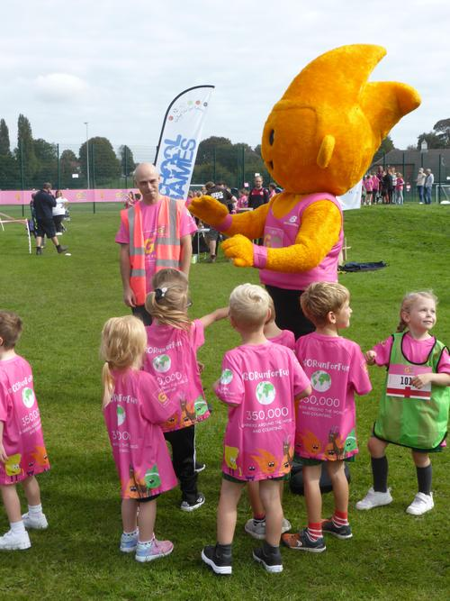 Meeting our mascot