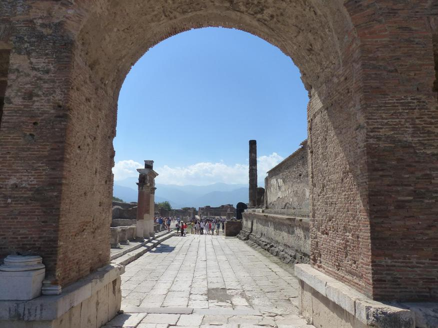 Archway to the Forum - would have been marble.