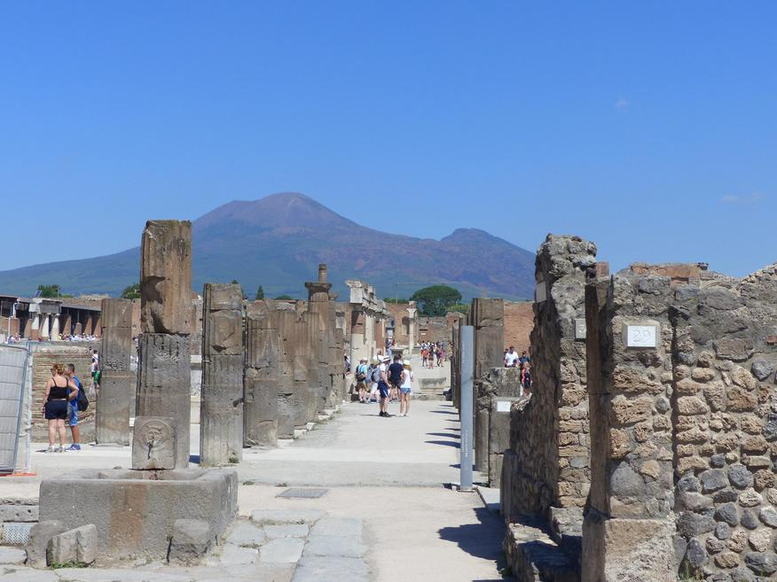 Vesuvius - You can see how close it was to Pompeii