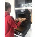 Zak does baking