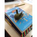 Charlie Rose crocheted a slug!