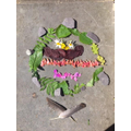 Goldsworthy inspired art by Ruby