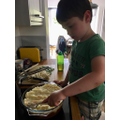 Samuel has been busy helping mummy to cook