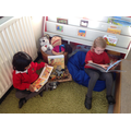 Cosy reading in the reading corner