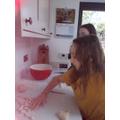 Clara makes gnocchi - yum!