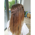 Sophie's stunning Waterfall hair