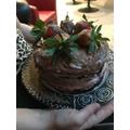 Izzy makes an amazing cake